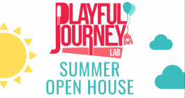 playful journey banner for upcoming open house
