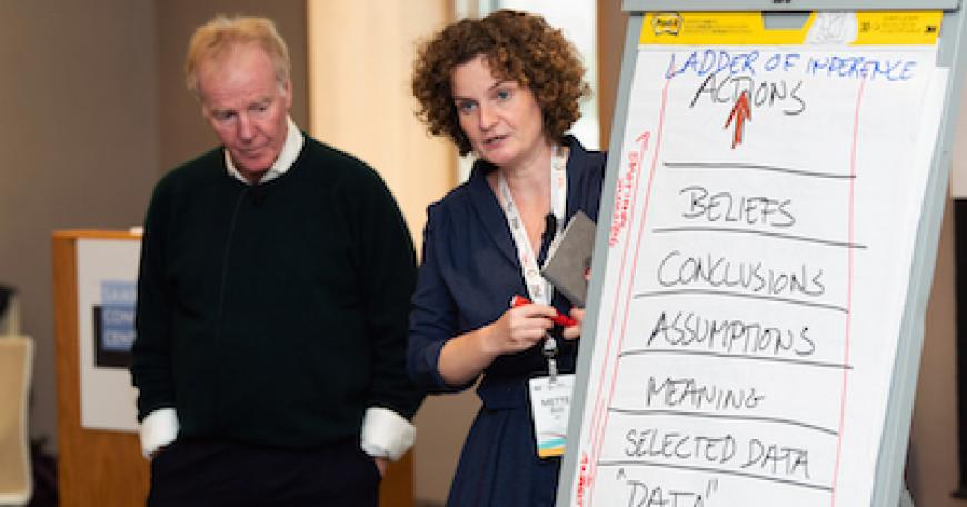 Dr. Peter Senge and Dr. Mette Boell