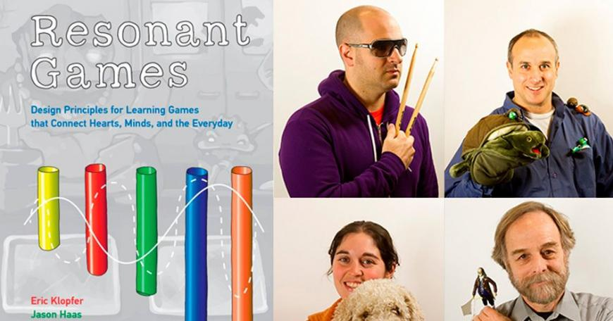 """Resonant Games"" is being published by the MIT Press. The authors (top left, clockwise): Jason Haas, Eric Klopfer, Scot Osterweil, and Louisa Rosenbeck"