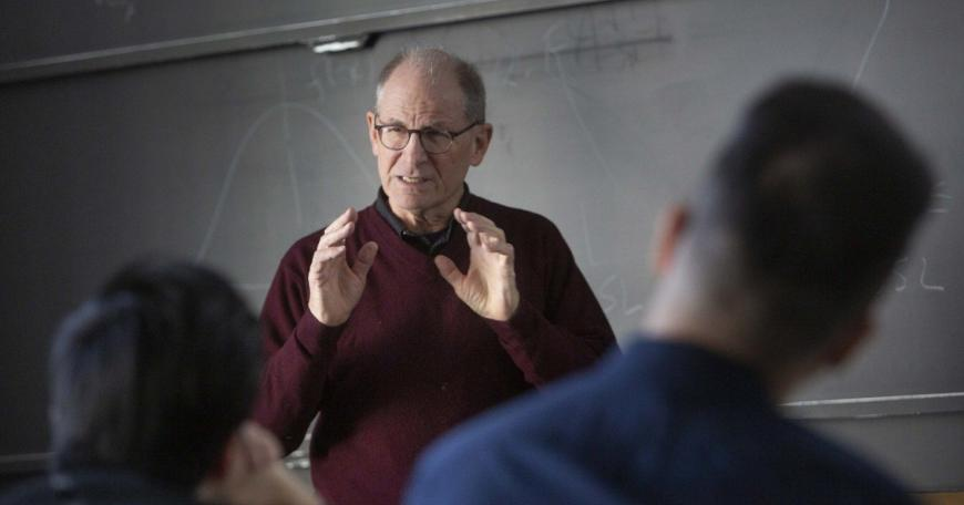 David Hardt teaches students in class 2.830 (Control of Manufacturing Processes).