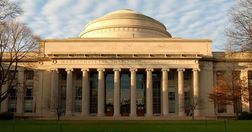 A view of MIT's domed Building 10 shot in late afternoon light